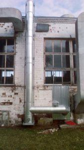 Фасадная дымовая труба – г. Ижевск