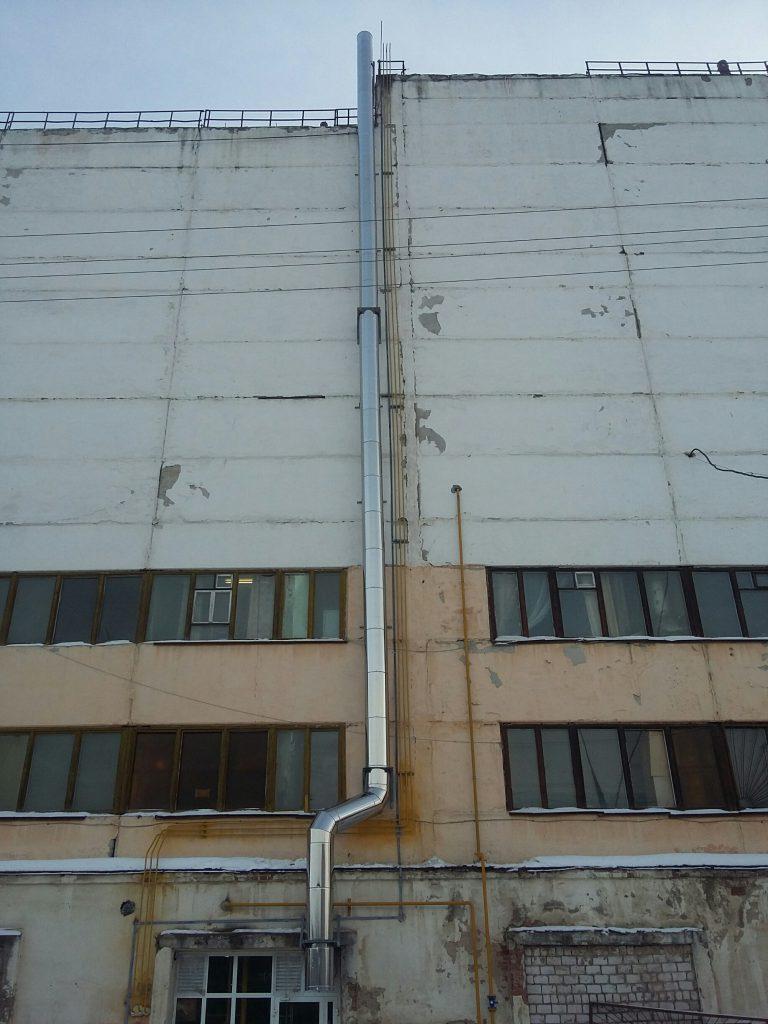 Фасадная дымовая труба — г. Ижевск